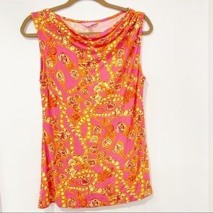 Lilly Pulitzer Doubloons Sleeveless Blouse Pink